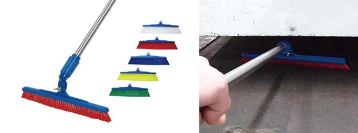 ブラシの角度調整がポイント!物と床との隙間の清掃をラクにする新しいほうきの紹介
